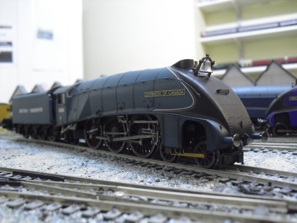 A4 'Dominion of Canada' with bell in BR livery as 60010,numbering, lettering and lining in place, varnished to spec
