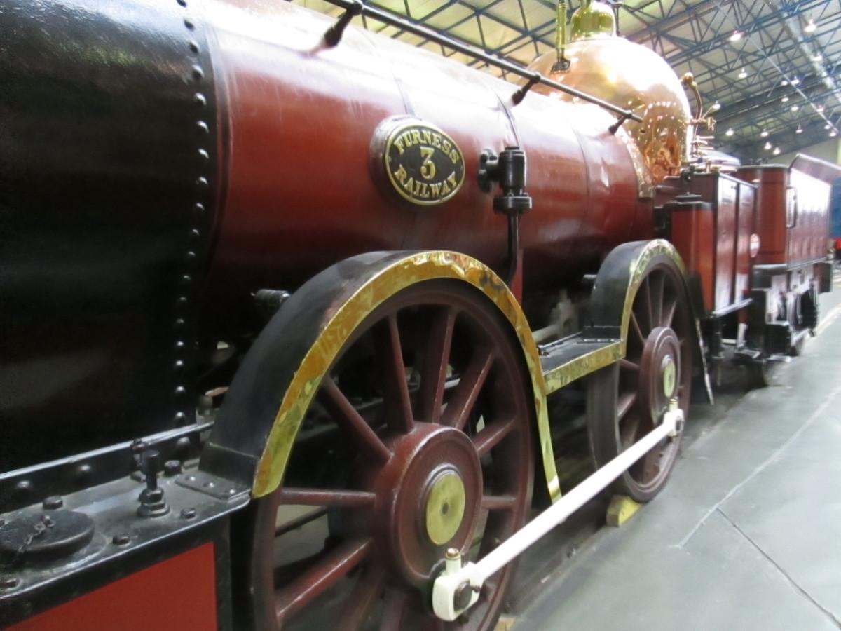 Furness Railway 0-4-0 inside frame locomotive, like 'Sans Pareil' had no shelter for driver or fireman