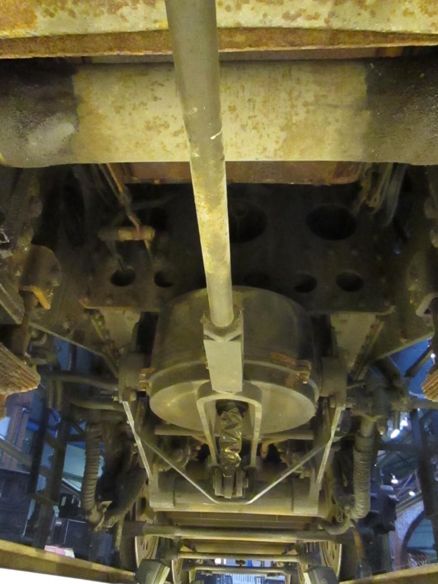 Looking rearward under the tender