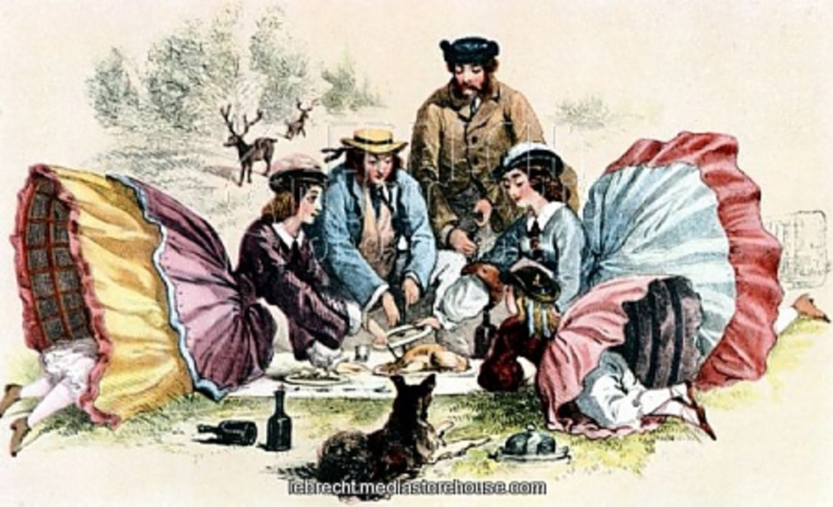 A Victorian Picnic. Food items for a picnic and menu ideas for your next outing.