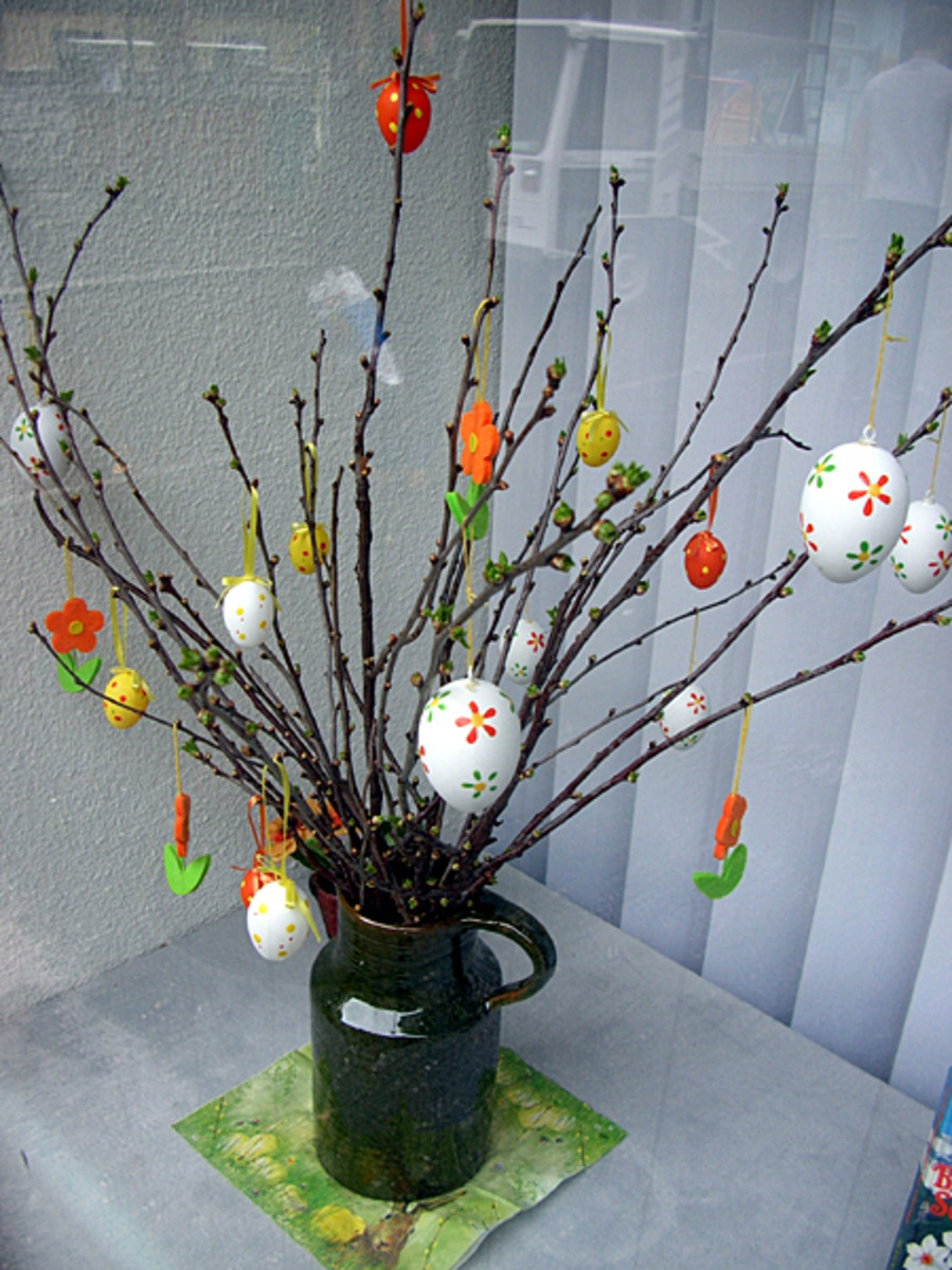 a German Easter tree