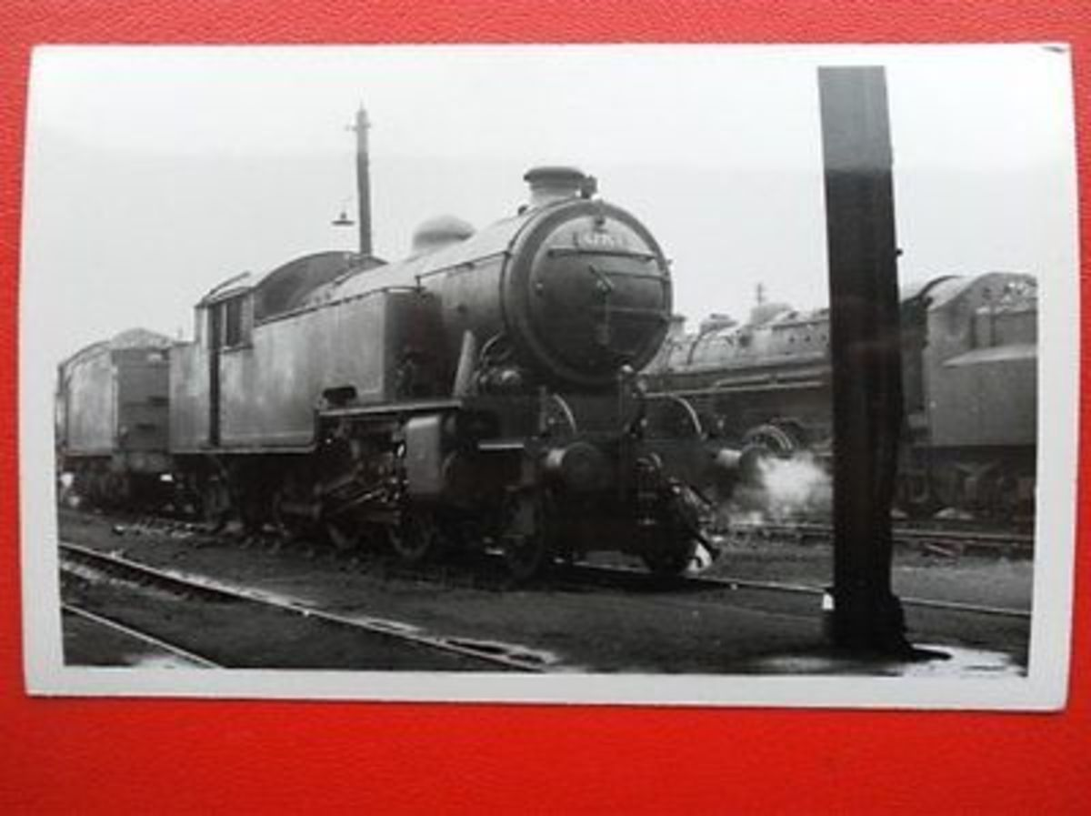 Class L1 2-6-4 67763 rests at Darlington between duties. She was moved to 50A in 1958 from Middlesbrough (51D) when her home shed closed and Thornaby (51L) opened to replace Newport and Middlesbrough's bomb-damaged and generally roofless sheds