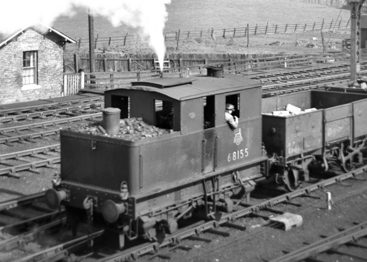Y3 0-4-0 68155 was allocated to Bridlington shed (53D) in the 1950s, seen here on shunting duties.