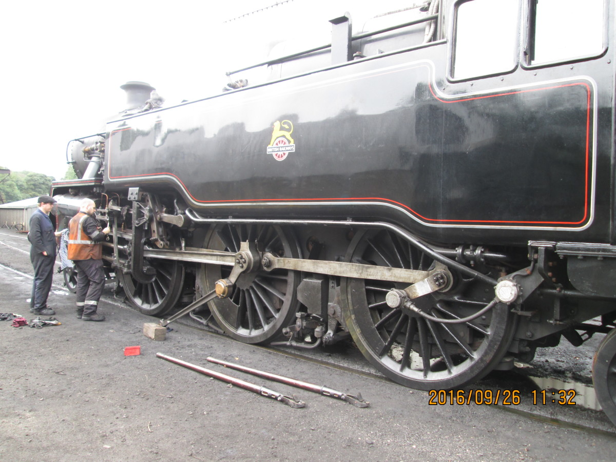 At Grosmont, NYMR BR Class 4 2-6-4T 80136 was introduced recently to augment services along with sister locomotive 80135 (in lined Brunswick green). These engines were built at Brighton and allocated around the system from the mid-1950s.