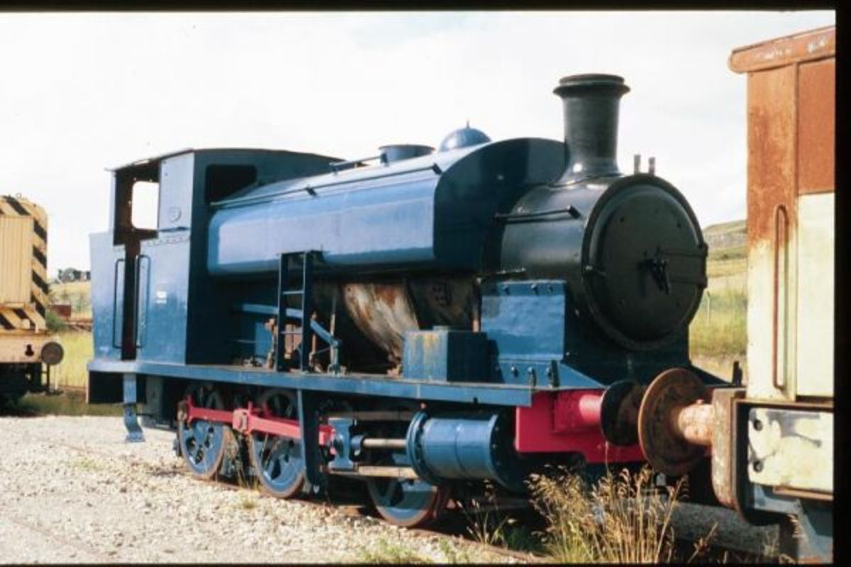 Scottish industrial steam saddle tank, useful in cramped yards for working on exchange or transfer duties from factory to main line