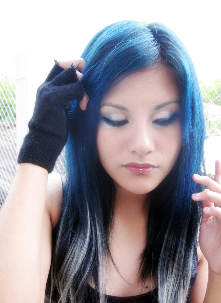 Learn how to dye your hair blue with Kool Aid.