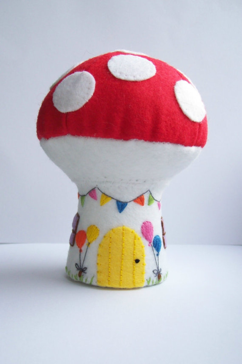 Hippywitch who sells these adorable toadstools is an English Etsy Seller with recent success