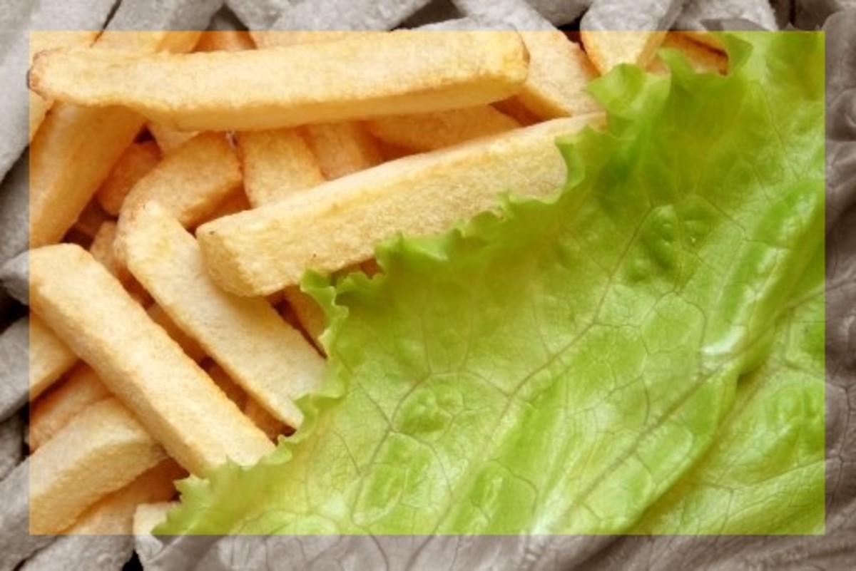 Salads and fries and stares, oh my!