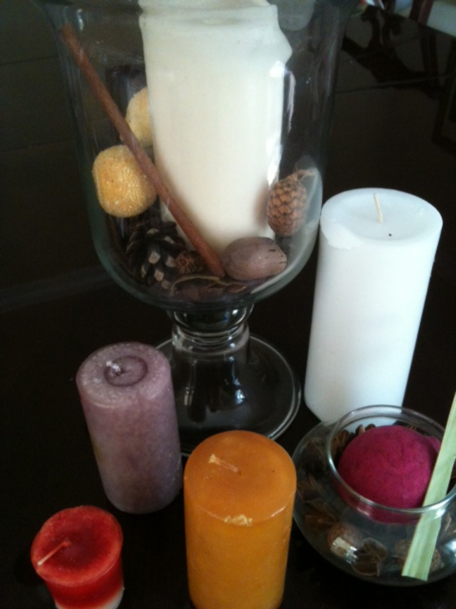 When essential oils have been added, candles can be used to create relaxing home smells.