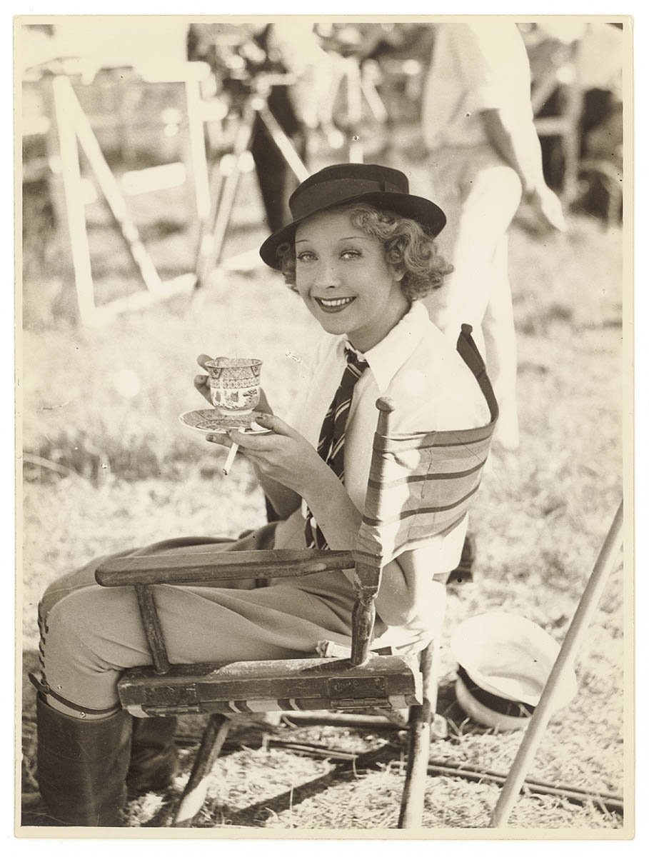"Helen Twelvetrees during the making of ""Thoroughbred"", Sydney, 1936 Sam Hood."