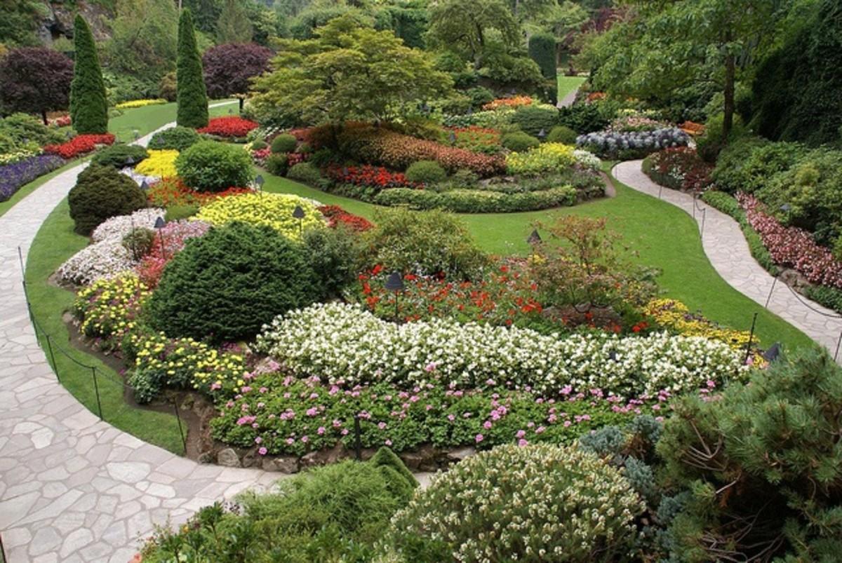 stunning garden at Butchart Gardens