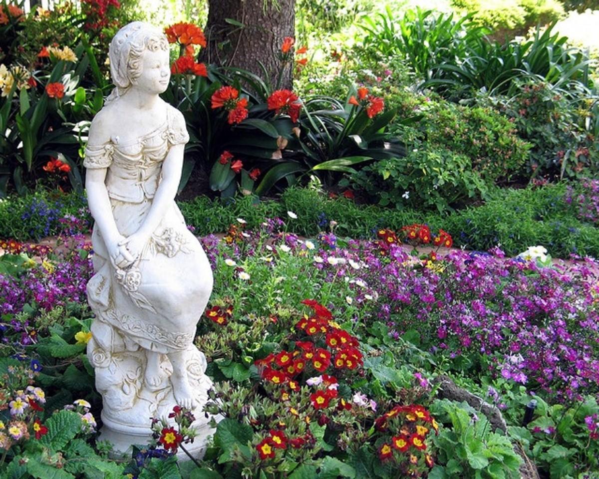 a garden statue