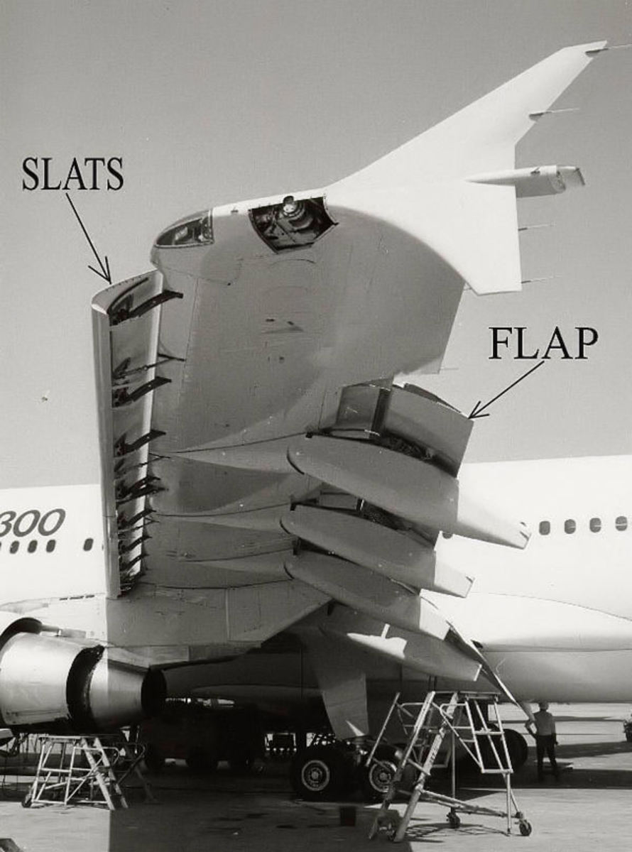 Flap and slat extended