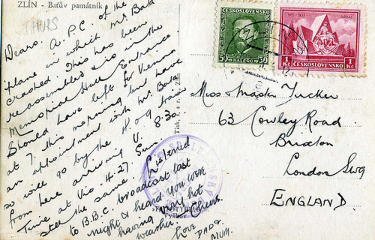 The postcard from year 1935