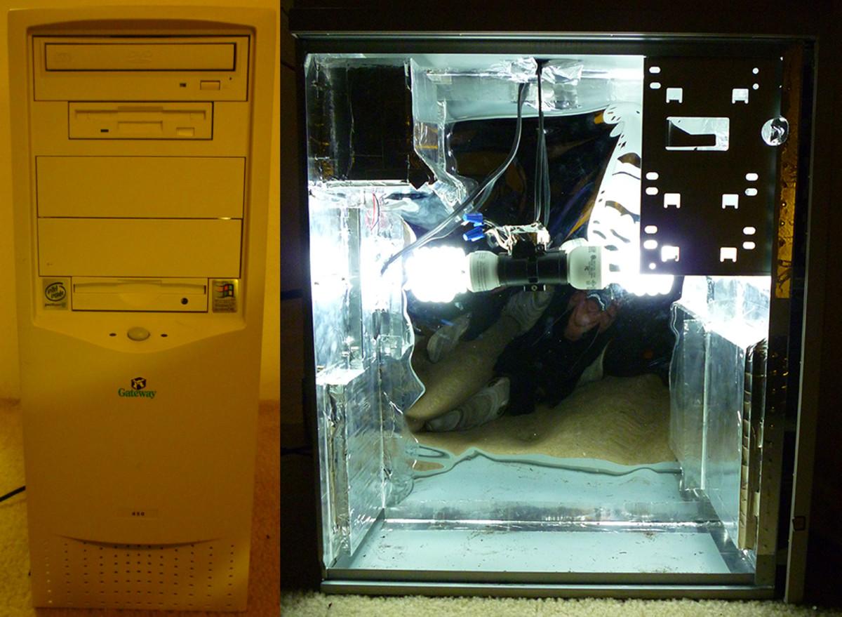 Front and Inside of Computer Grow Box. ©Joe Macho