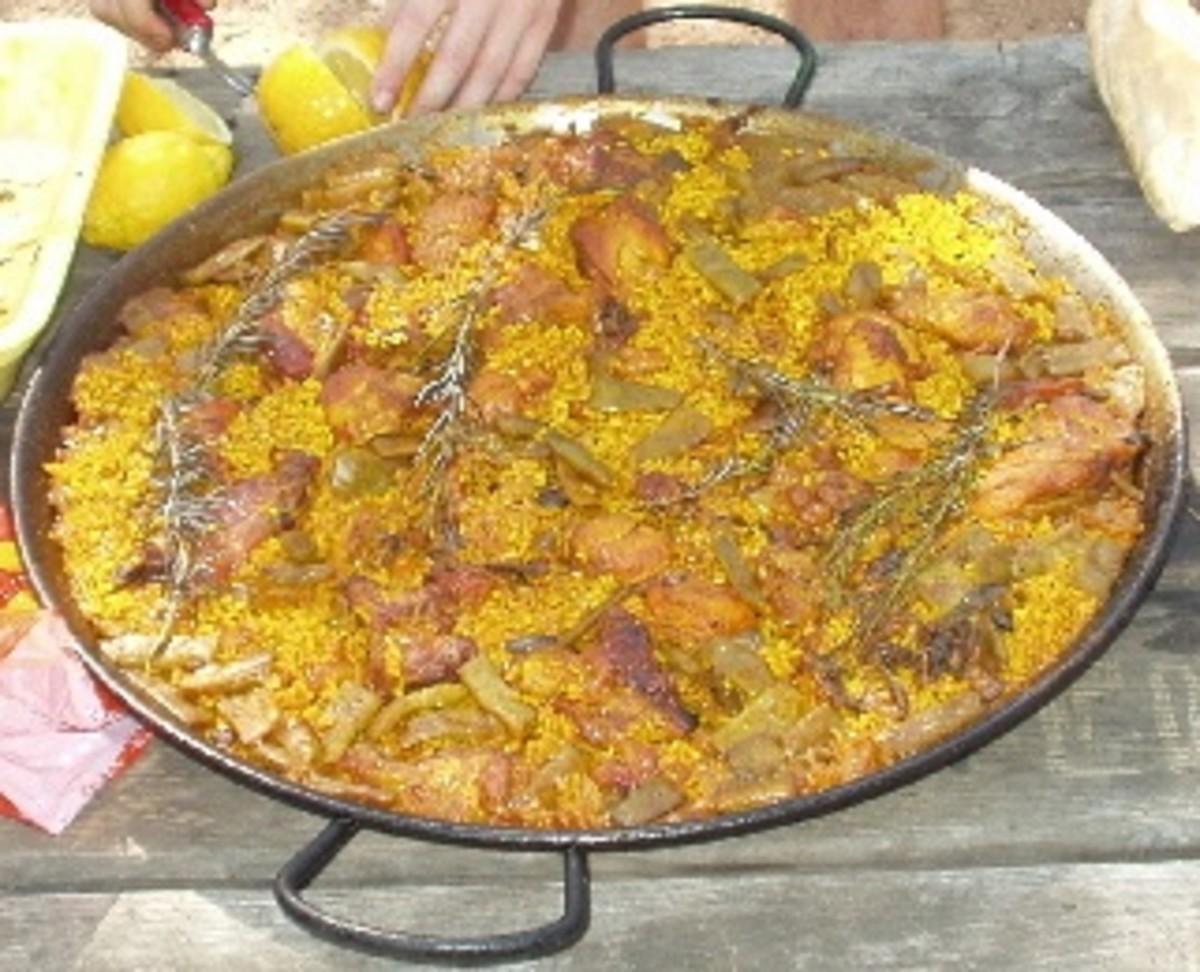 Paella, national dish of Spain.
