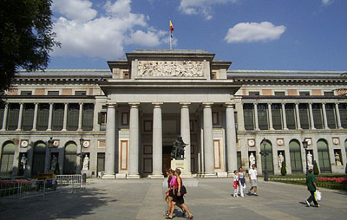 The Prado Museum in Madrid, Spain's national and world-renowned art museum.