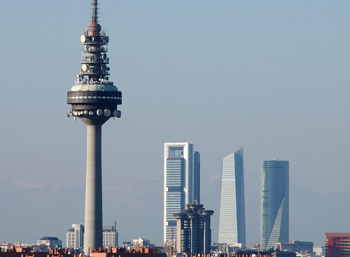 The modern business section of Madrid.