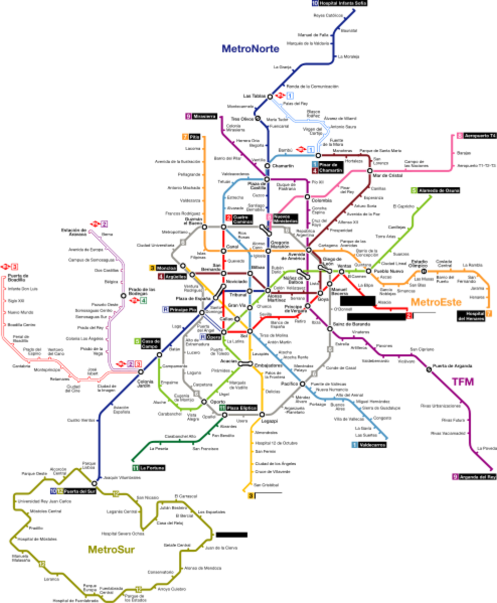 Madrid is easily accessible by the great metro system it has.