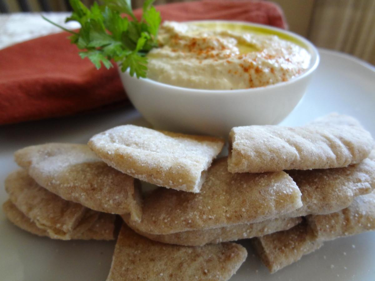 Chewy Whole Grain Pita Bread Recipe
