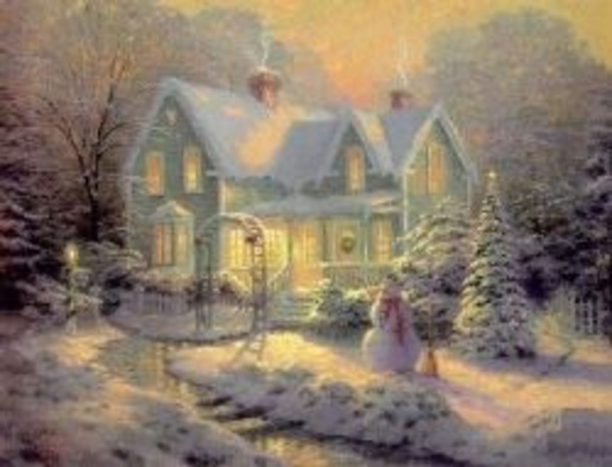 Thomas Kinkade Blessings of Christmas