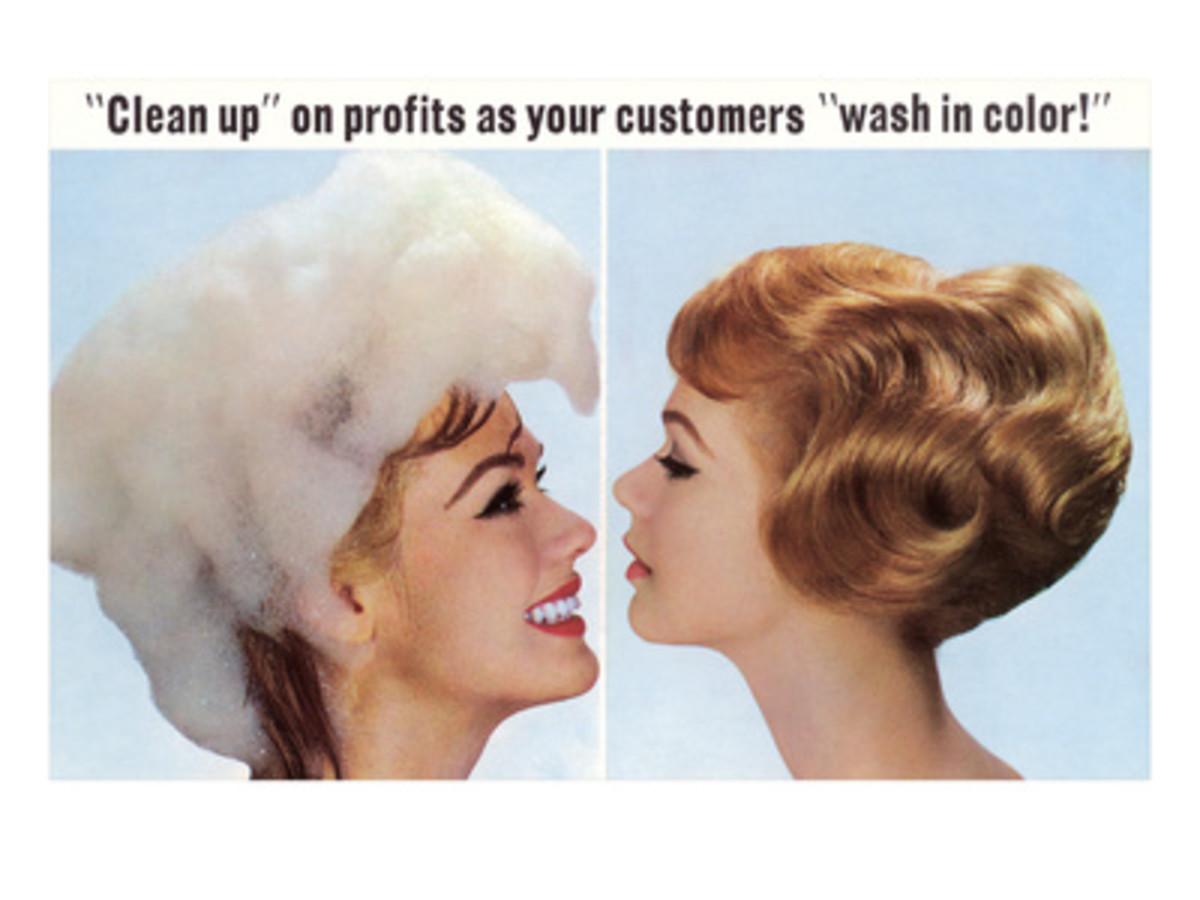 Hair Dye Ad, Retro