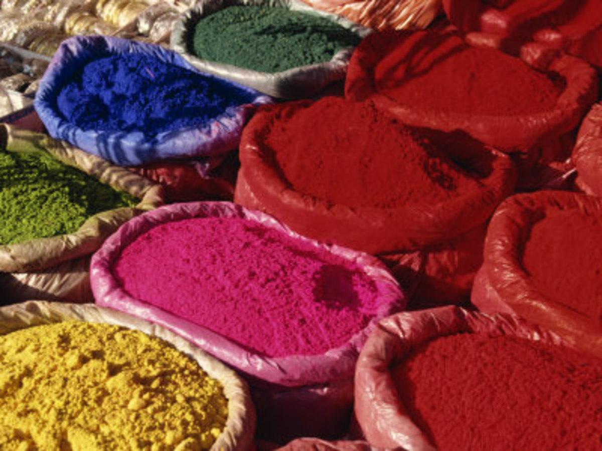 Dyes for Sale, Kathmandu, Nepal, by Hellier Gavin