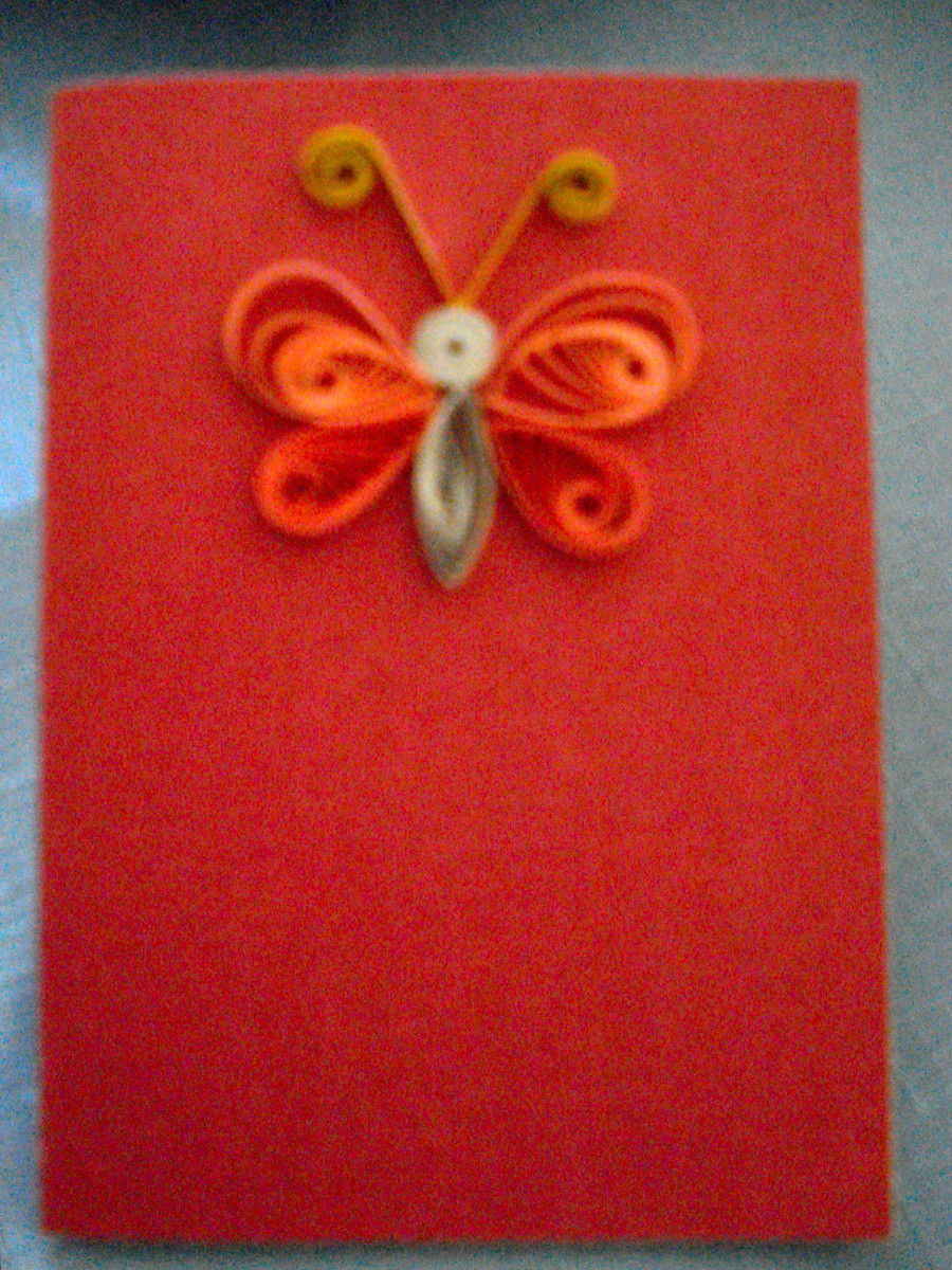 A butterfly made with quilling
