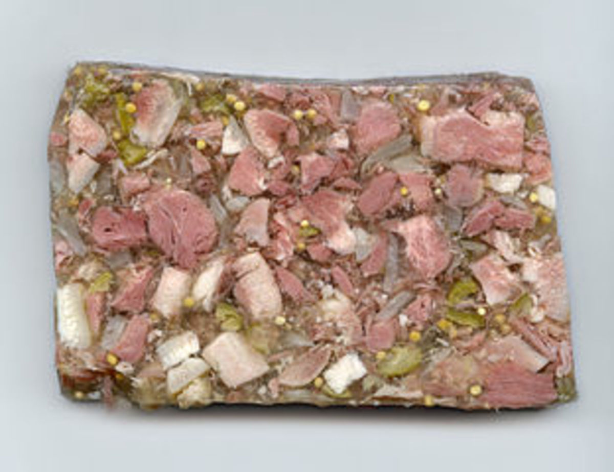 Head cheese was a way to use up otherwise unusable parts of the animal.