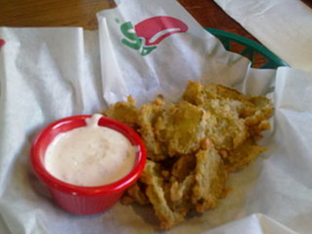 Fried pickles are a popular local treat in some areas of the South.