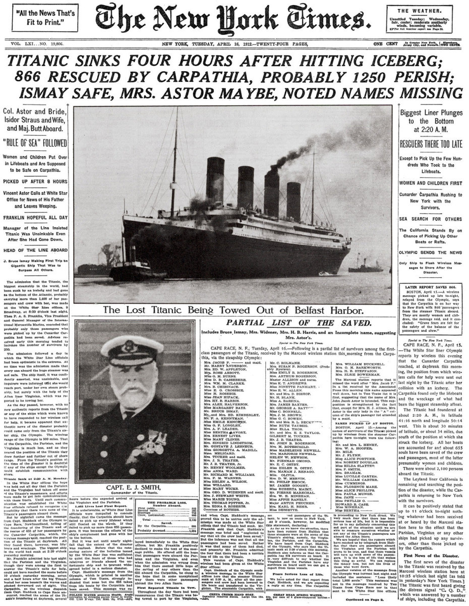Remembering the Lesser Known Passengers that died on the Titanic