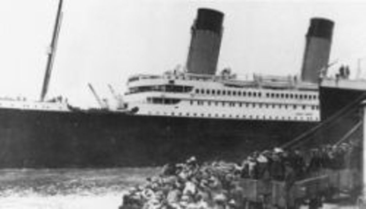 Titanic leaving Southampton.