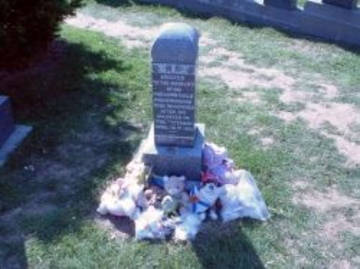 Photo of the final resting place of Sidney Leslie Goodwin. Sidney was a toddler that died during the Titanic disaster.