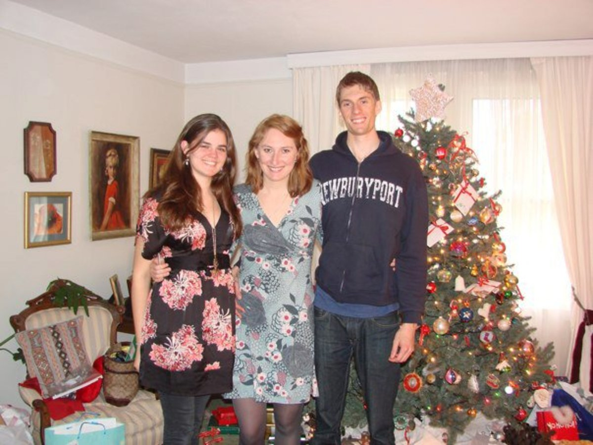 "My cousin (5'11"" but she's wearing heels), me, and my brother (6'7"")."