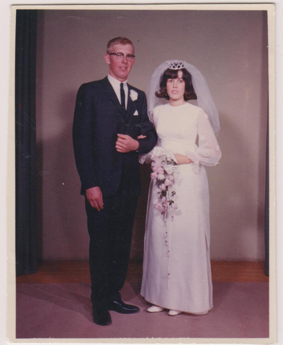 My Mom and Dad newly married.