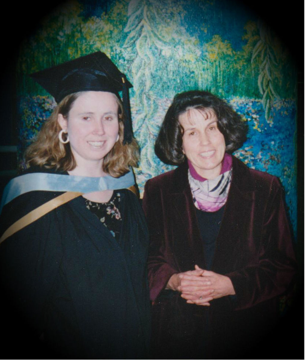 My Mom and me at my university graduation -- 1999.