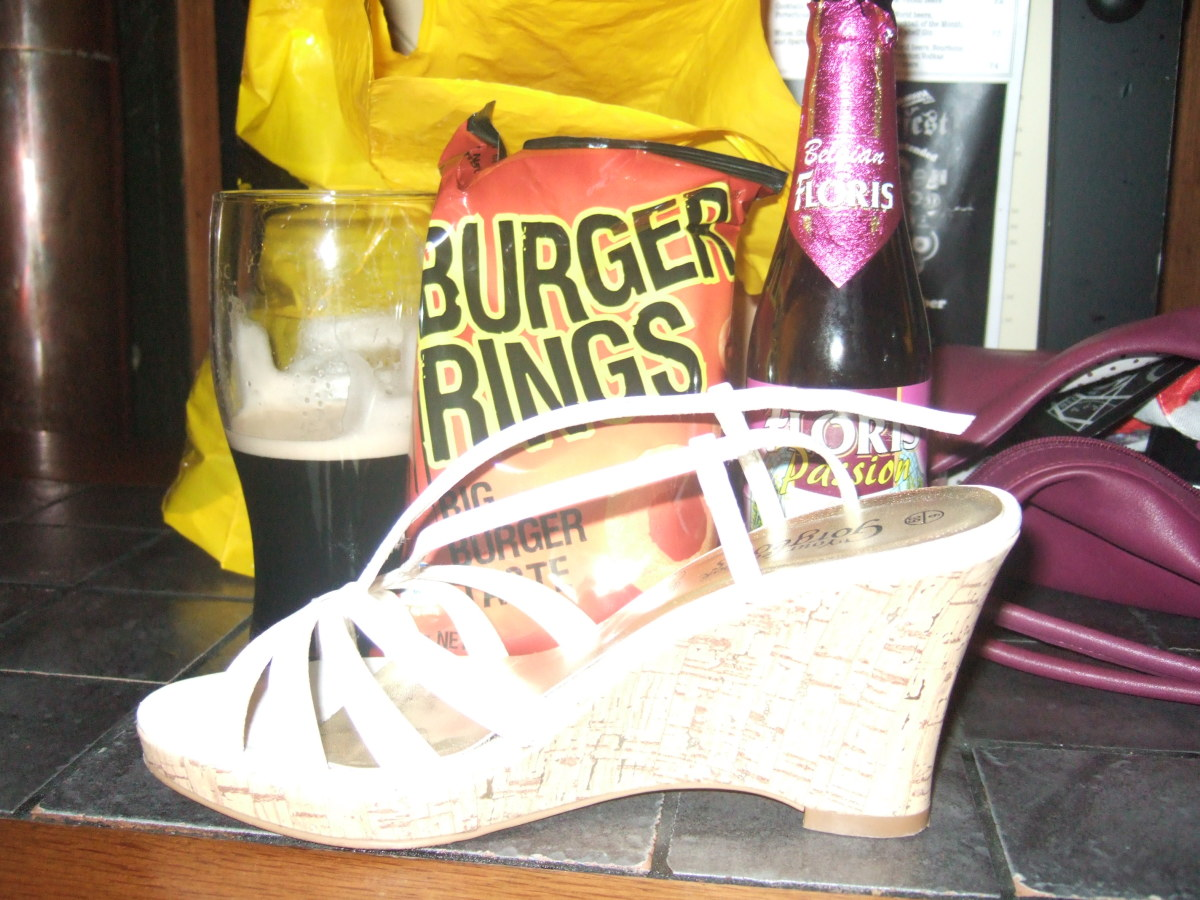 Realism involves representing real life. In this image, my birthday is represented by the wearing of high heels and the consumption of special products that have meaning to me.