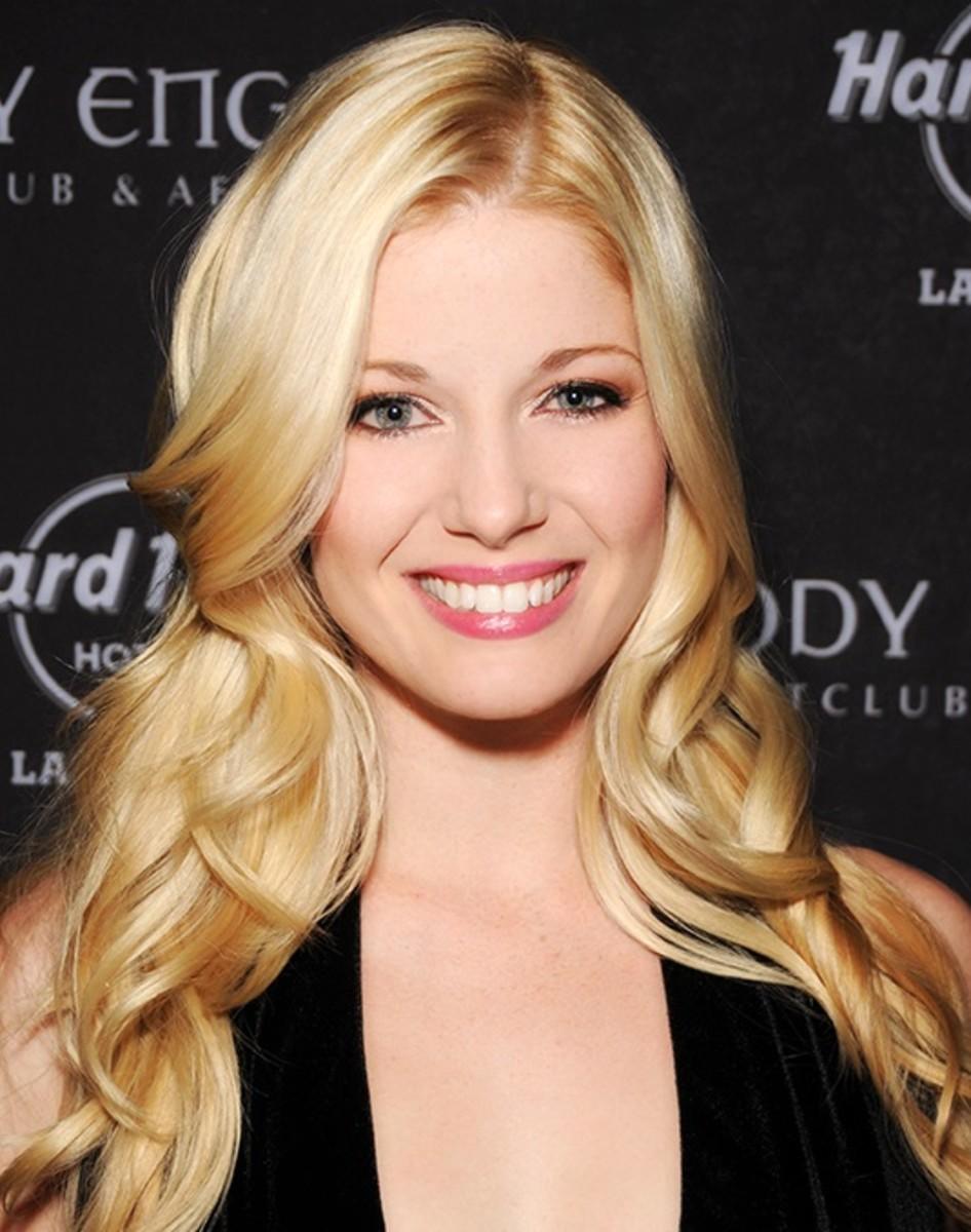 Makeup for blonde hair, blue eyes, and fair skin.