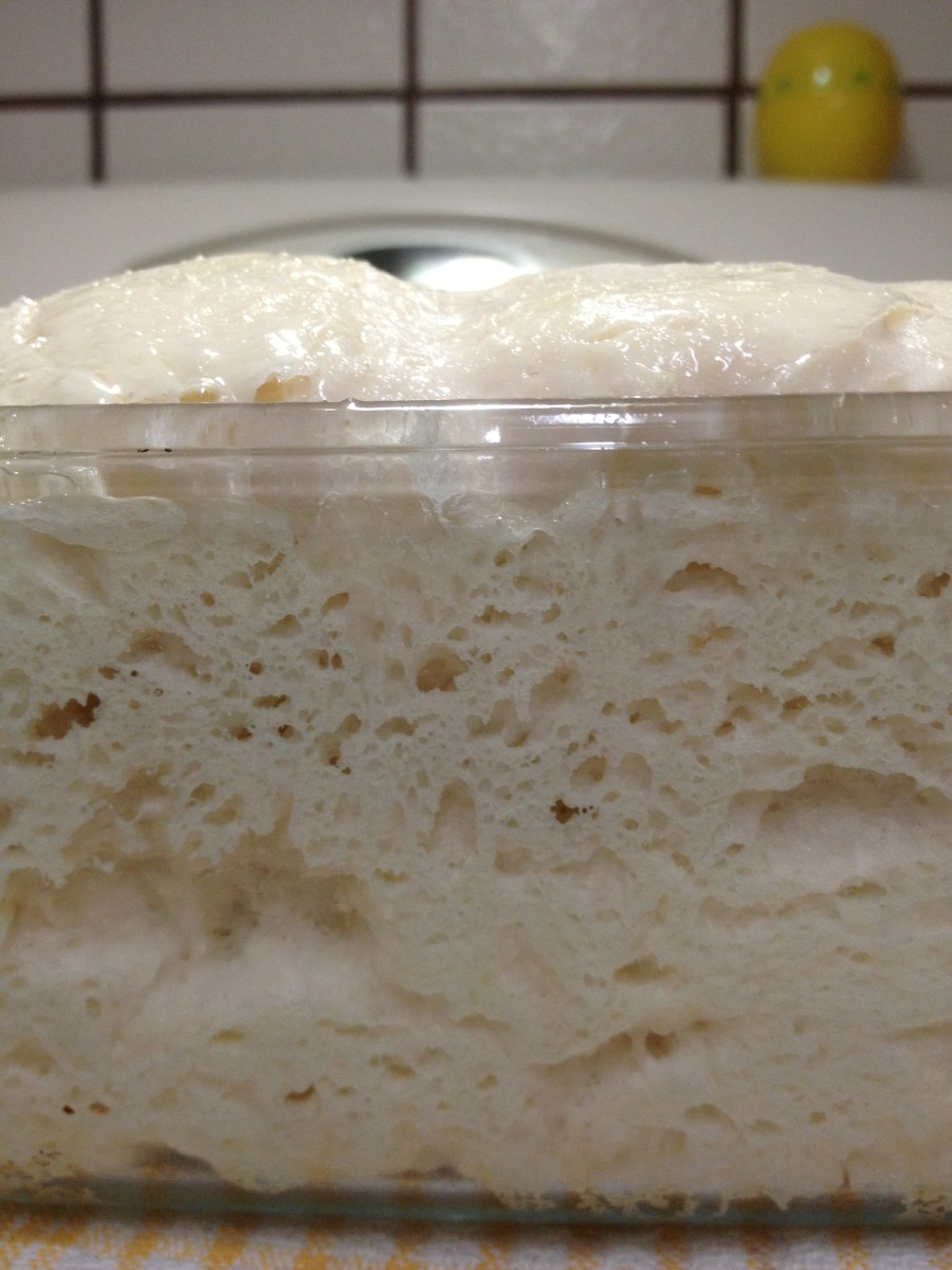 It has risen! Optional: you can brush a thin coating of egg whites on top of the loaf for a pretty, shiny coated look!