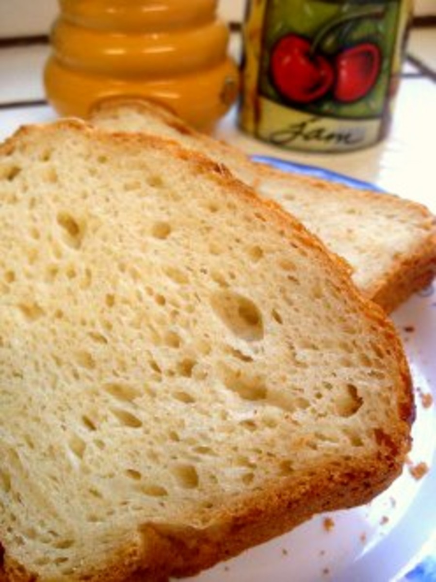 A slice of gluten free bread to start off the morning.