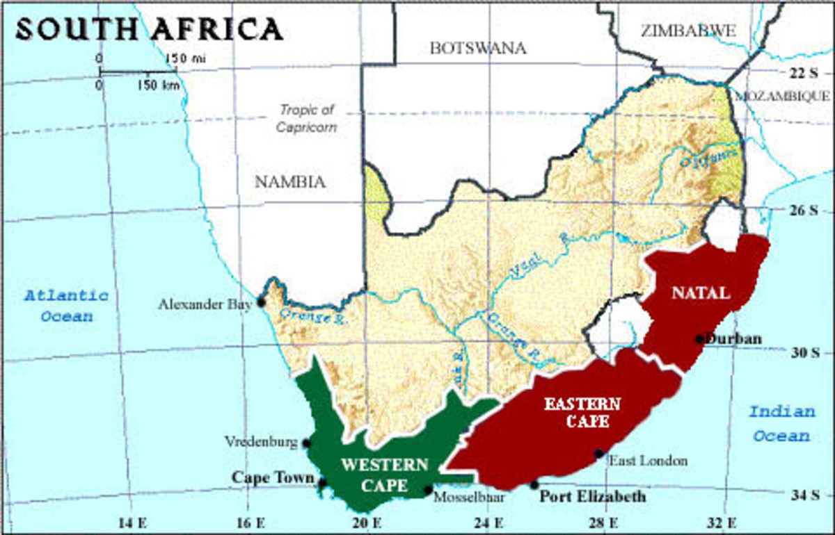 South Africa shark attack areas