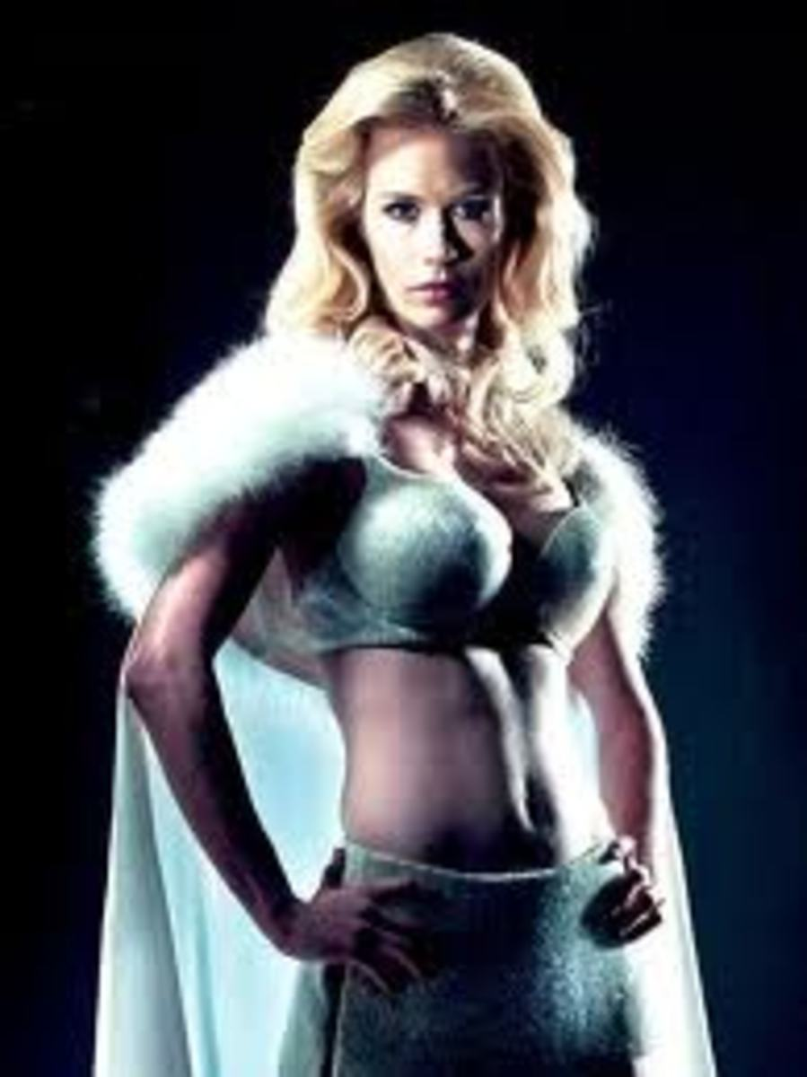 January Jones as Emma Frost The White Queen in X-Men First Class