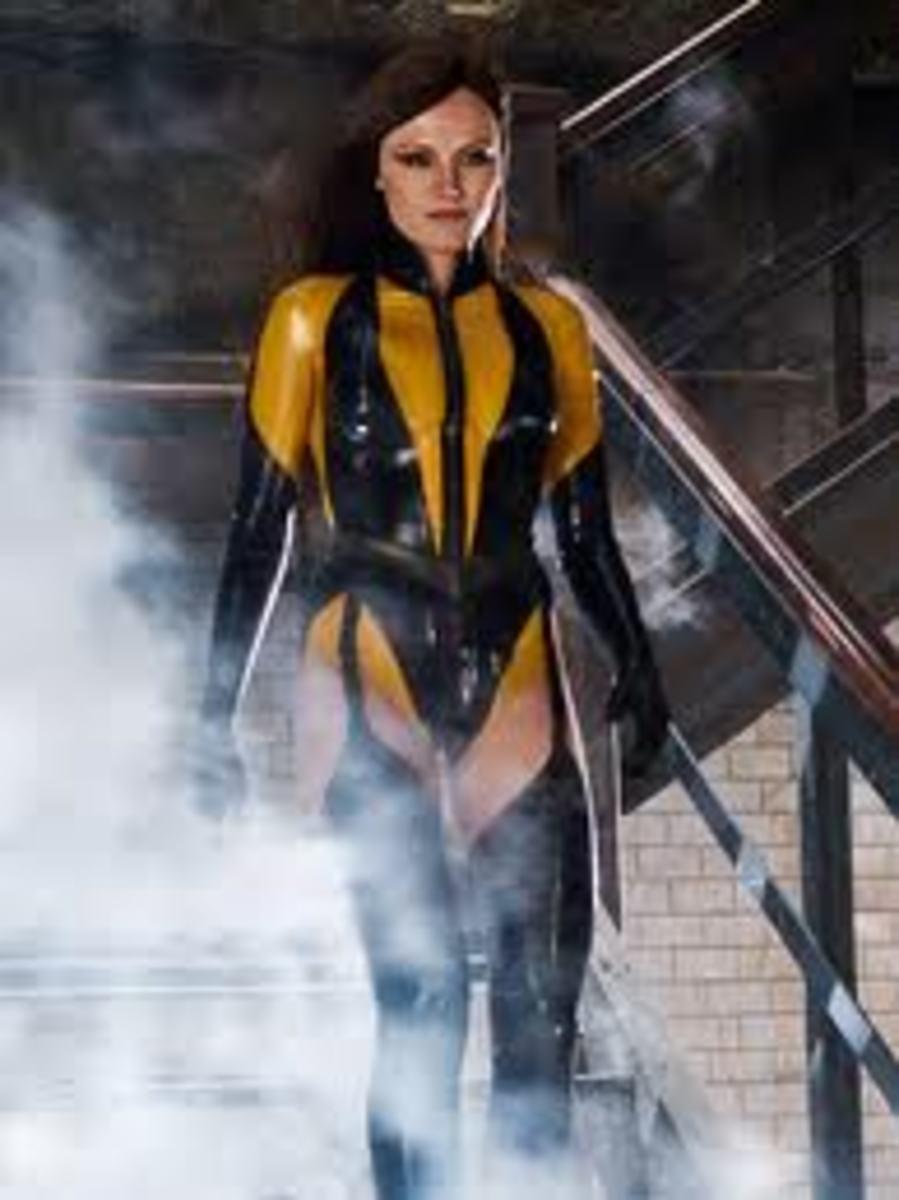 Malin Akerman as Silk Spectre II in Watchmen