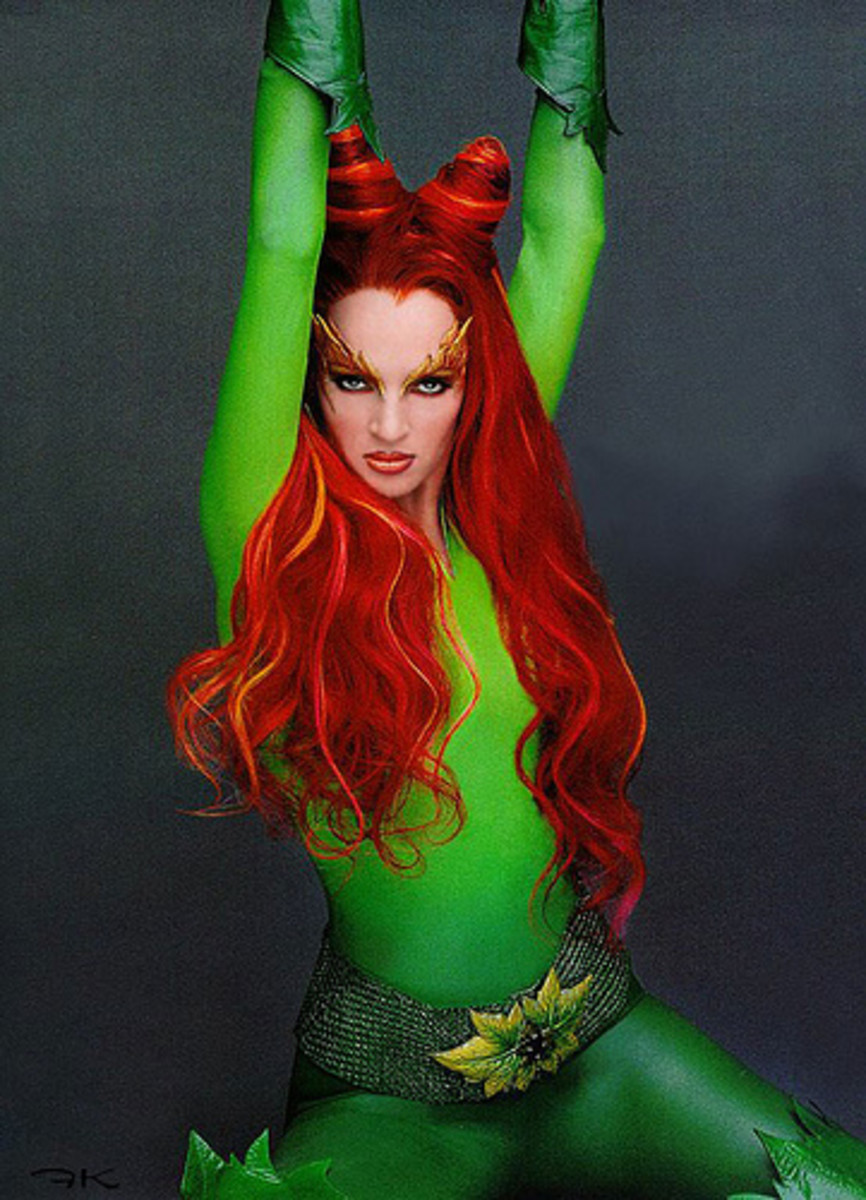Uma Thurman As Poison IVy in Batman Forever