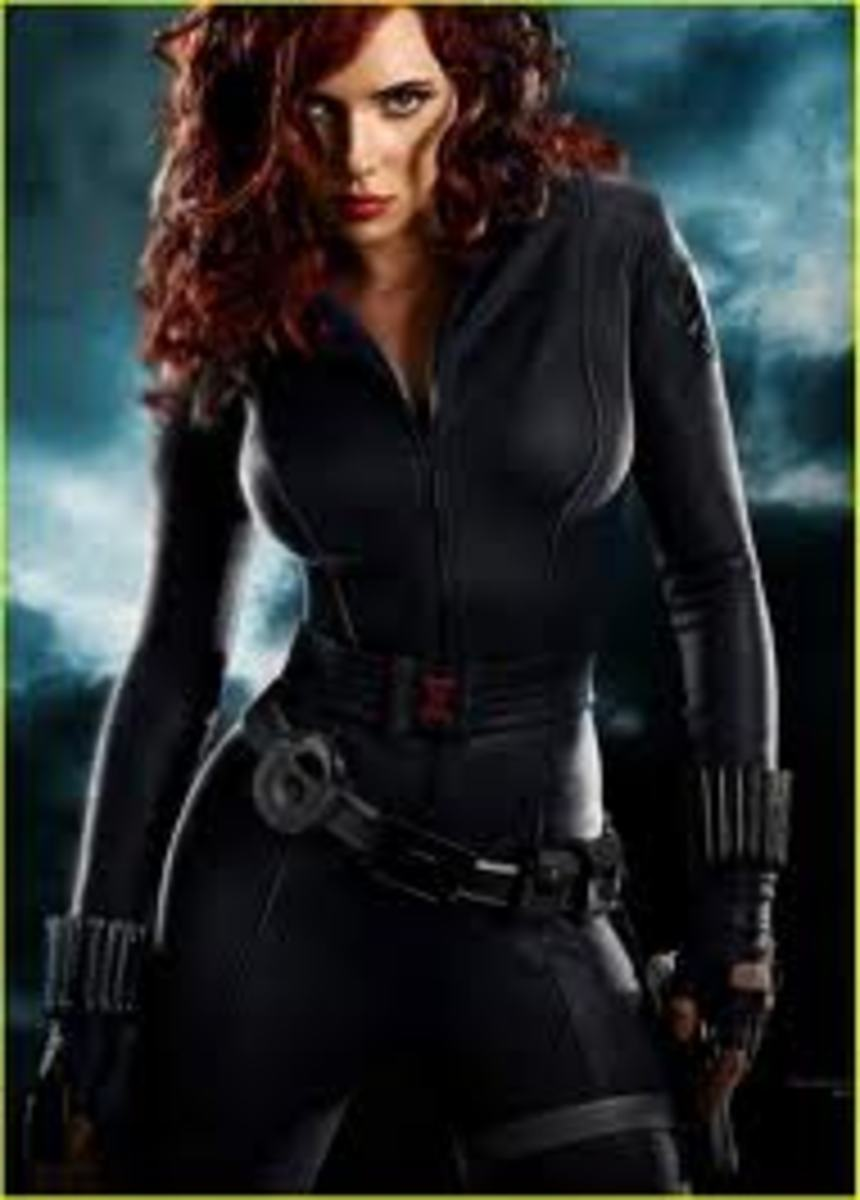 Scarlett Johansson as Black Widow in Iron Man 2 and The Avengers movie
