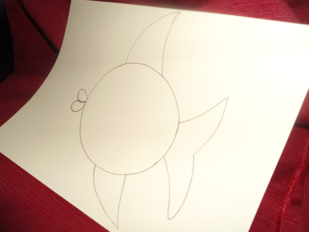 Draw desired creature or other image on cardstock  preferably