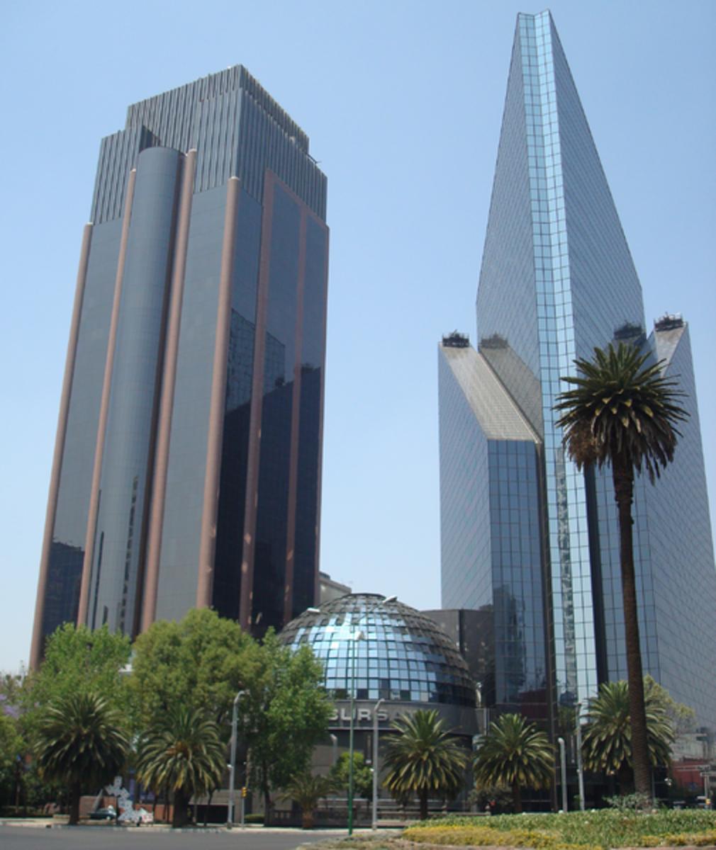 Mexico City today.  Mexican Stock Market.