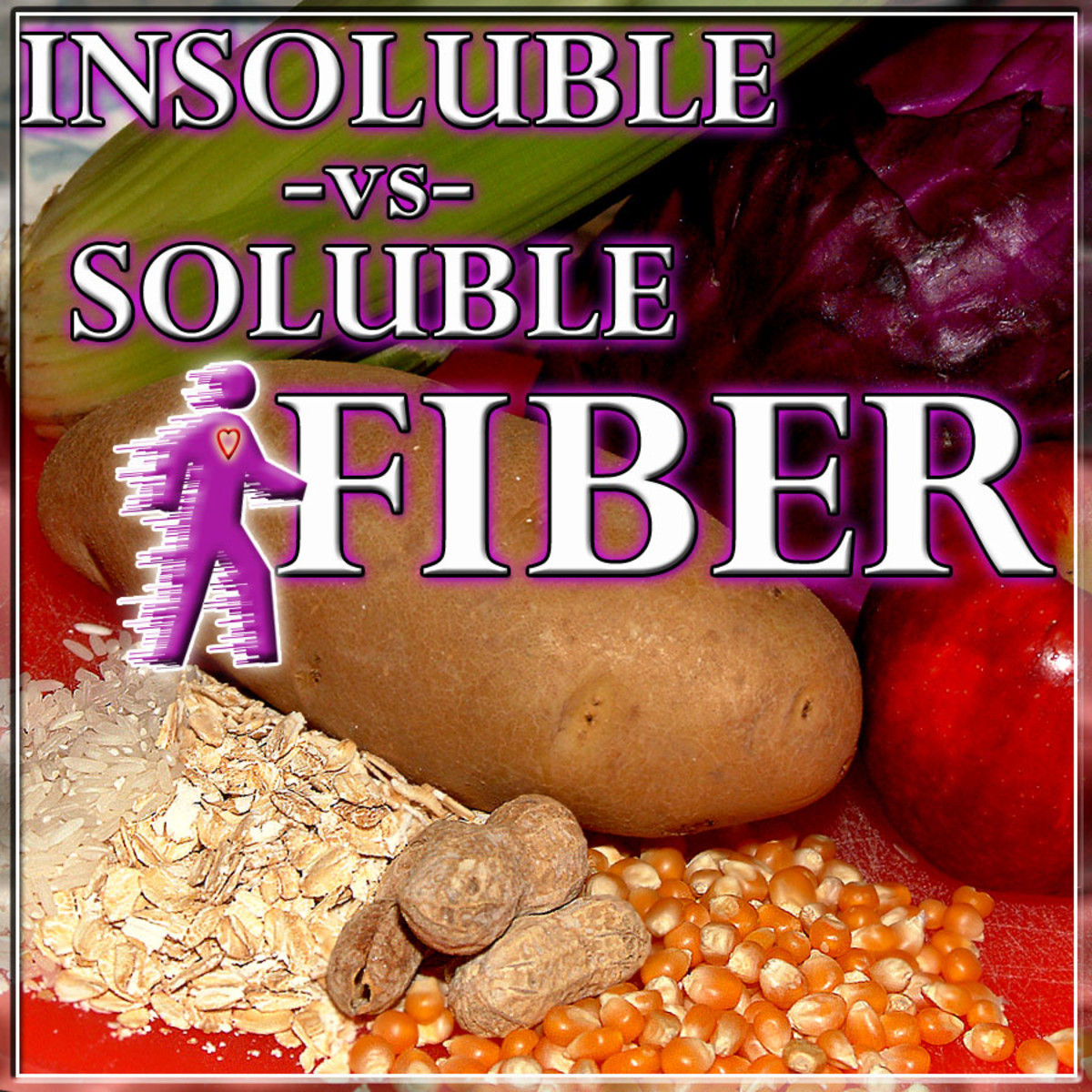 Fiber is found in two dietary types: Soluble and Insoluble. Each offers healthy benefits.