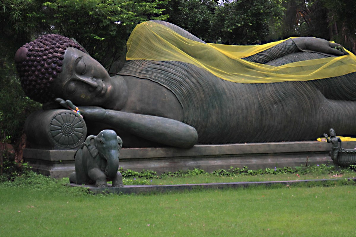 The Reclining Buddha. Representations of different postures of Buddha are symbolic of different phases of his life.The Reclining Buddha portrays him entering Nirvana upon death