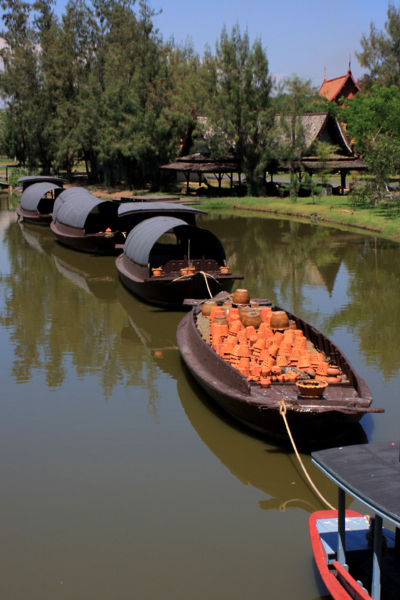 Barges pay tribute to the waterways which were once the life-blood of inland trade. Here is a barge laden with a cargo of clay pots
